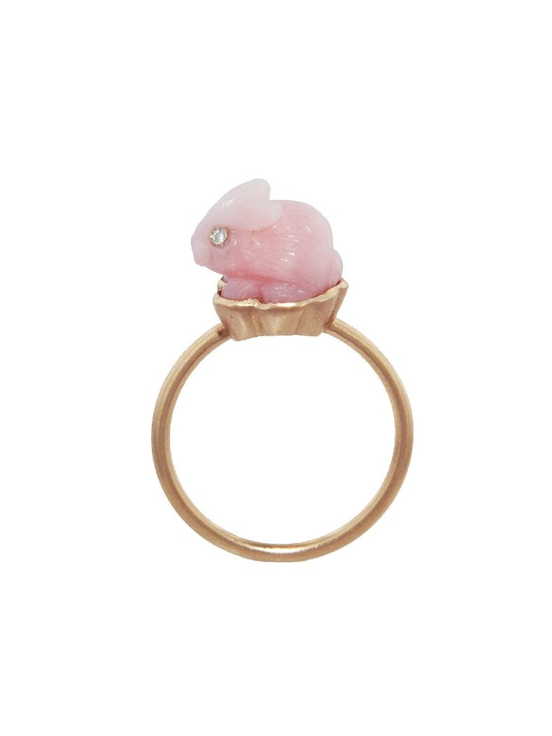 Irene Neuwirth Opal & rose-gold ring OKdhLIlb