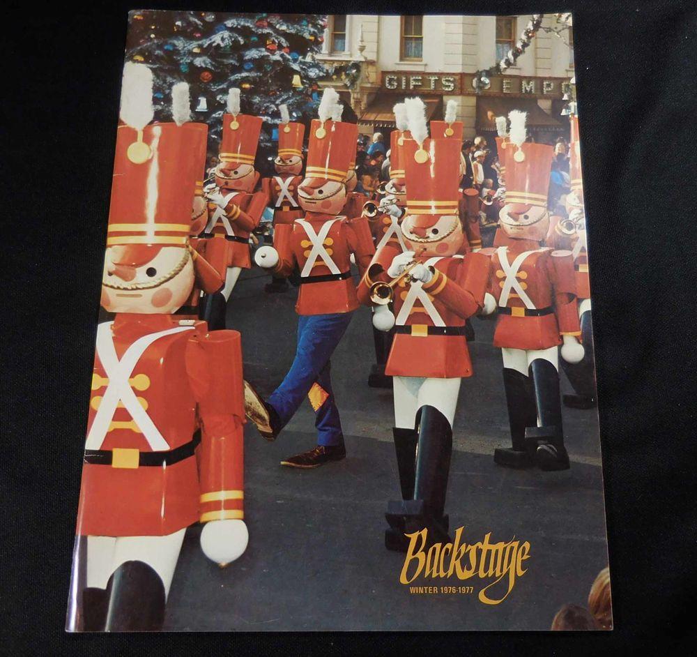 1976-77 Vintage Disneyland Cast Humorous Magazine BACKSTAGE #Disney