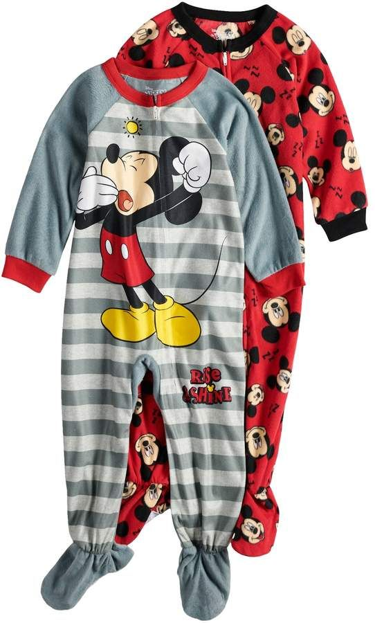 Mickey Mouse Fleece Footed Pajama Toddler Boy