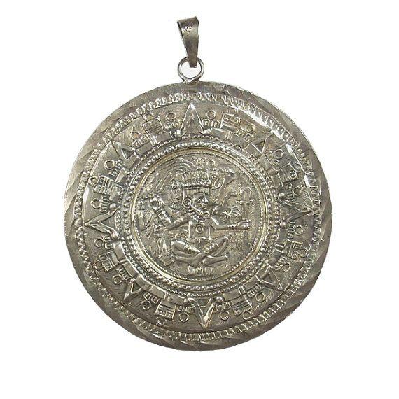 Aztec calendar pendant vintage mexican by gregdemarkjewelry aztec calendar pendant vintage mexican by gregdemarkjewelry aloadofball Image collections
