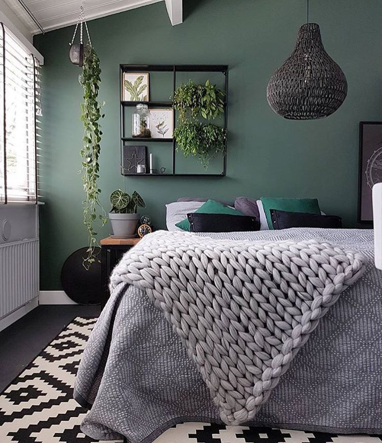 23 Grey Bedrooms That Are Far From Boring Bedroom Interior Grey Green Bedrooms Green Bedroom Walls