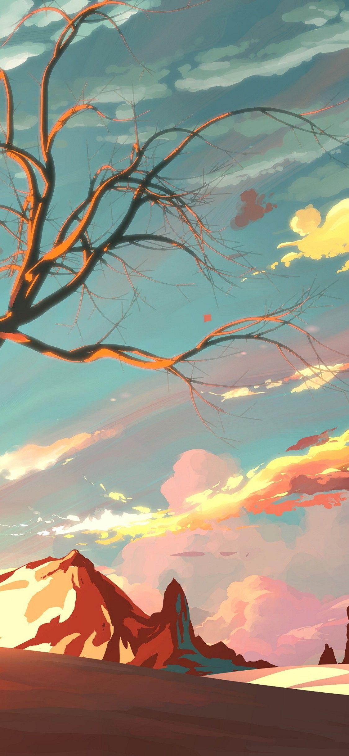 Warm Art Vibes Landscape wallpaper, Iphone wallpaper