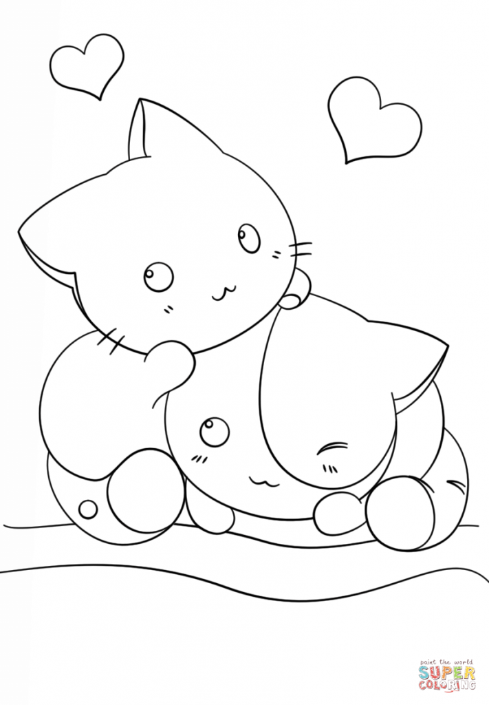 Coloring Rocks Animal Coloring Pages Cute Coloring Pages Cat Coloring Page