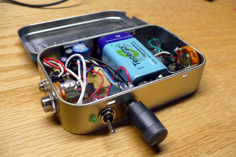 Mini Amp In An Altoid Tin