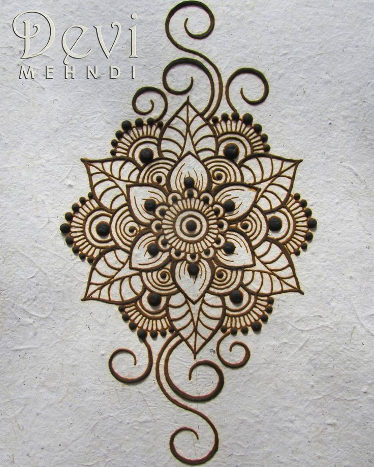 "Devi Mehndi - Myriam Rivas on Instagram: ""I wish you all a nice week! It's monday! So let's do it! �� This is dried henna paste on recycled paper. I drew my favorite mandala flower…"""