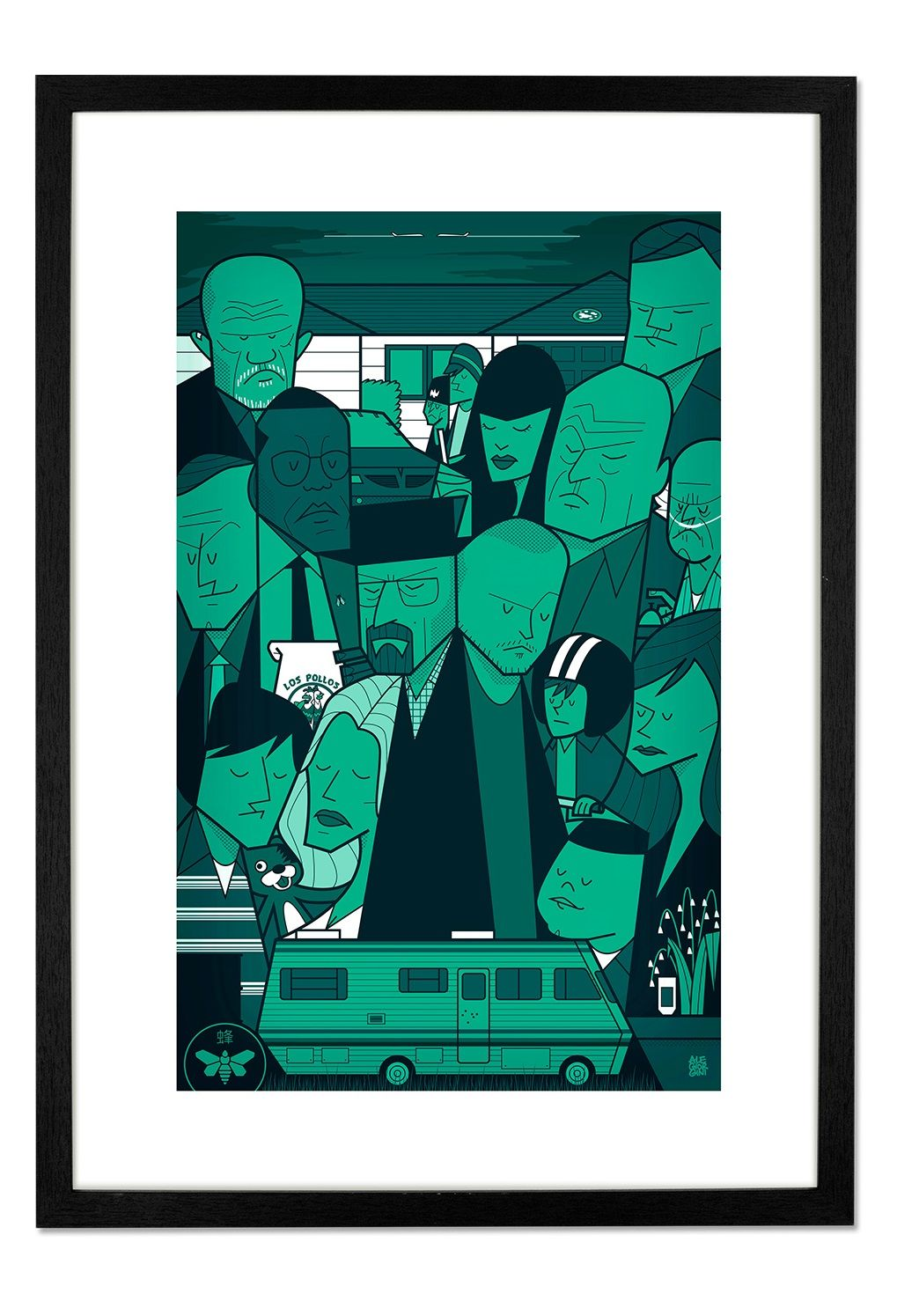 Breaking bad by ale giorgini prints from 29 made home immortalise your favourite series with the breaking bad framed print this breaking bad art print is available to buy from red candy jeuxipadfo Choice Image