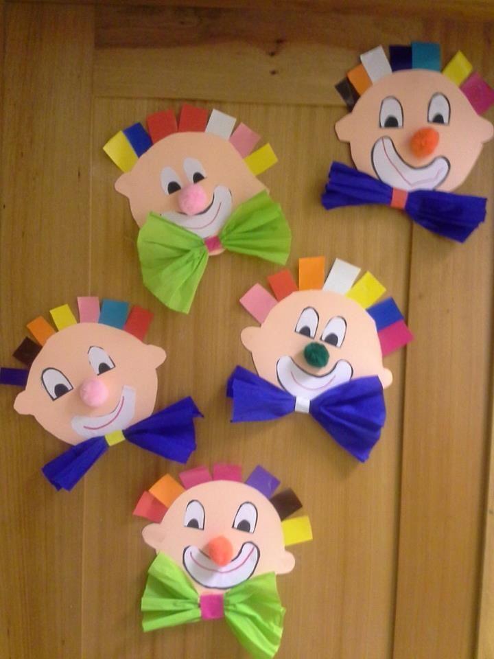 Die besten 25 clown basteln ideen auf pinterest karneval basteln fasching basteln kinder und - Clown basteln kindergarten ...