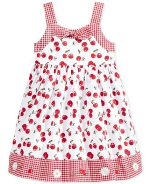 912a5c09102 Macys Blueberi Boulevard Size 5 Girls Red Checkered Cherry Sleeveless  Sundress  BlueberiBoulevard  Everyday