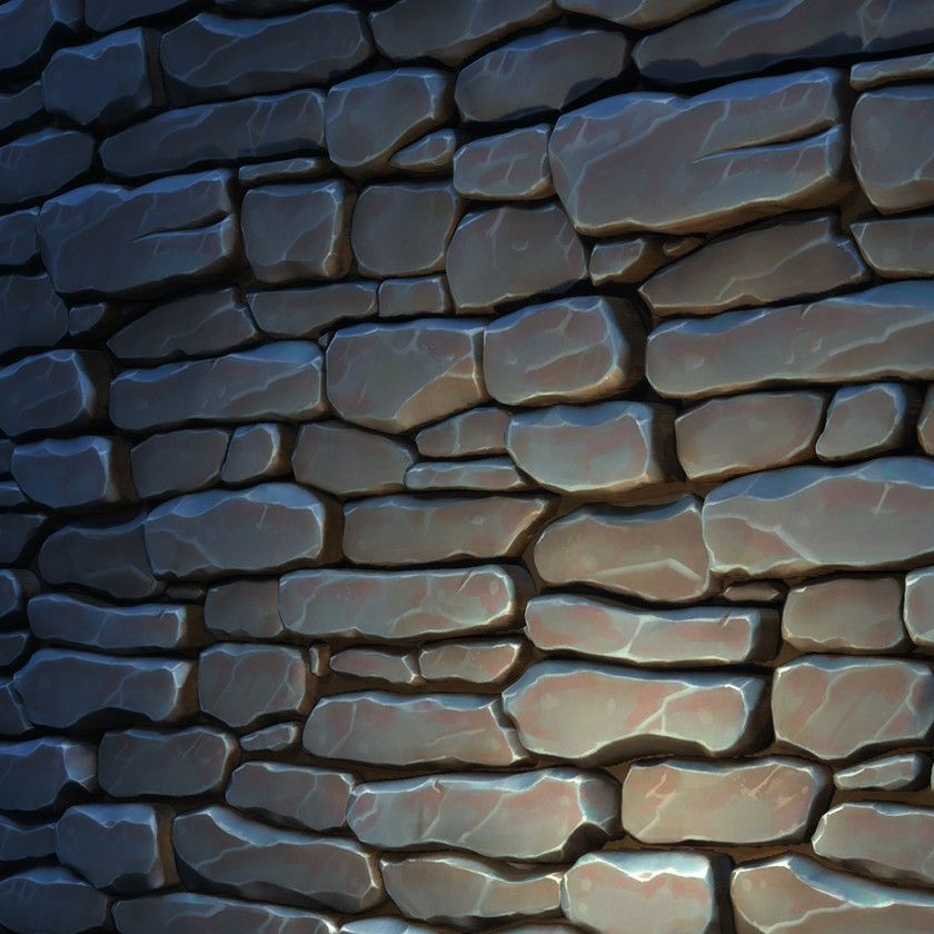 Stylized Stone Wall Texture Daniel Diaz On Artstation At Https