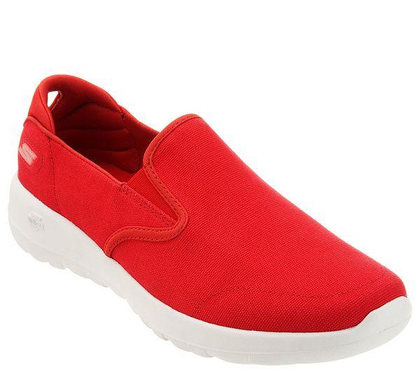 qvc skechers slip on shoes