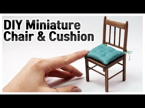 DIY Miniature Chair & Detachable cushion | Doll Furniture Tutorial | BijouTV