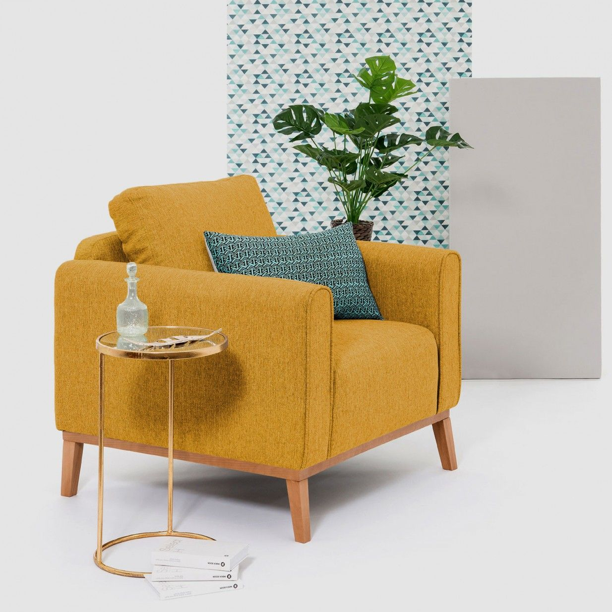 11+ Sessel mit hocker gelb ideen
