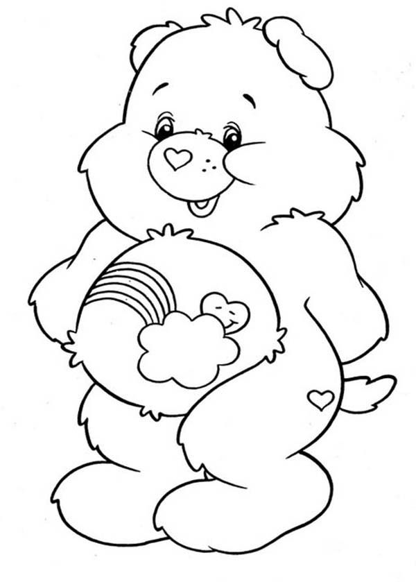 Care Bear How To Draw Care Bear Coloring Page How To Draw Care