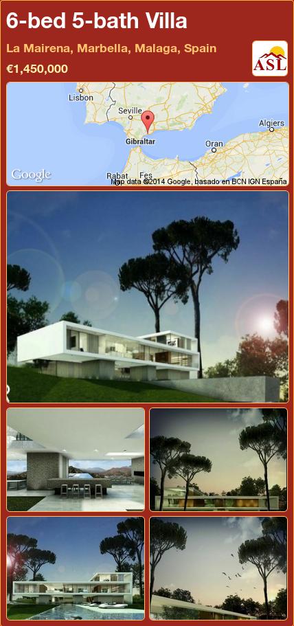 6-bed 5-bath Villa in La Mairena, Marbella, Malaga, Spain ►€1,450,000 #PropertyForSaleInSpain
