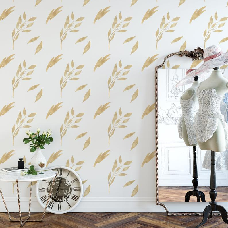 Designer Wallpaper Removable And Self Adhesive Peel And Etsy Peel And Stick Wallpaper Designer Wallpaper Vintage Floral Wallpapers
