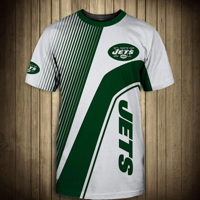 new product 08ace daa9c NFL T shirt 3D Custom New York Jets T shirts Cheap For Fans ...
