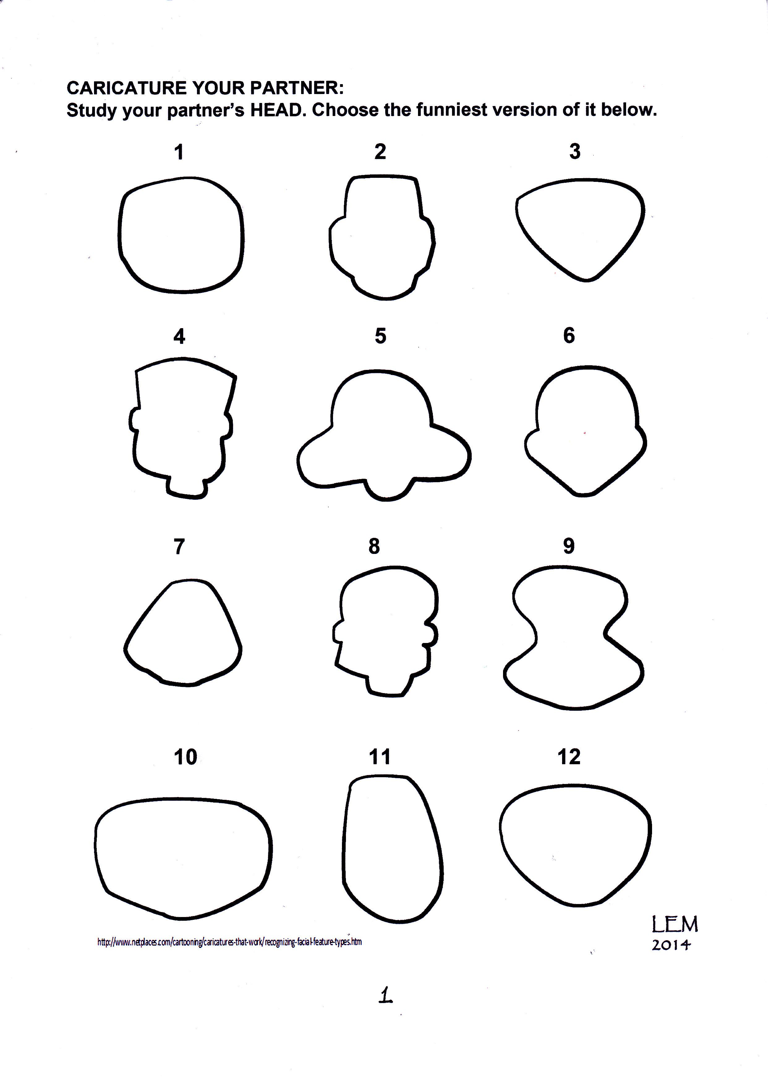Image Result For Caricature Face Shape