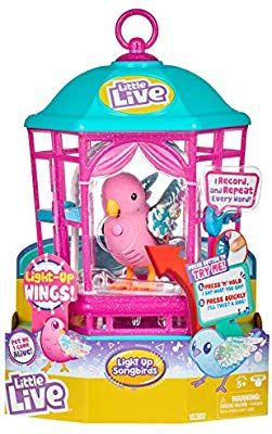 Little Live Pets Bird with Cage Rainbow Glow Styles