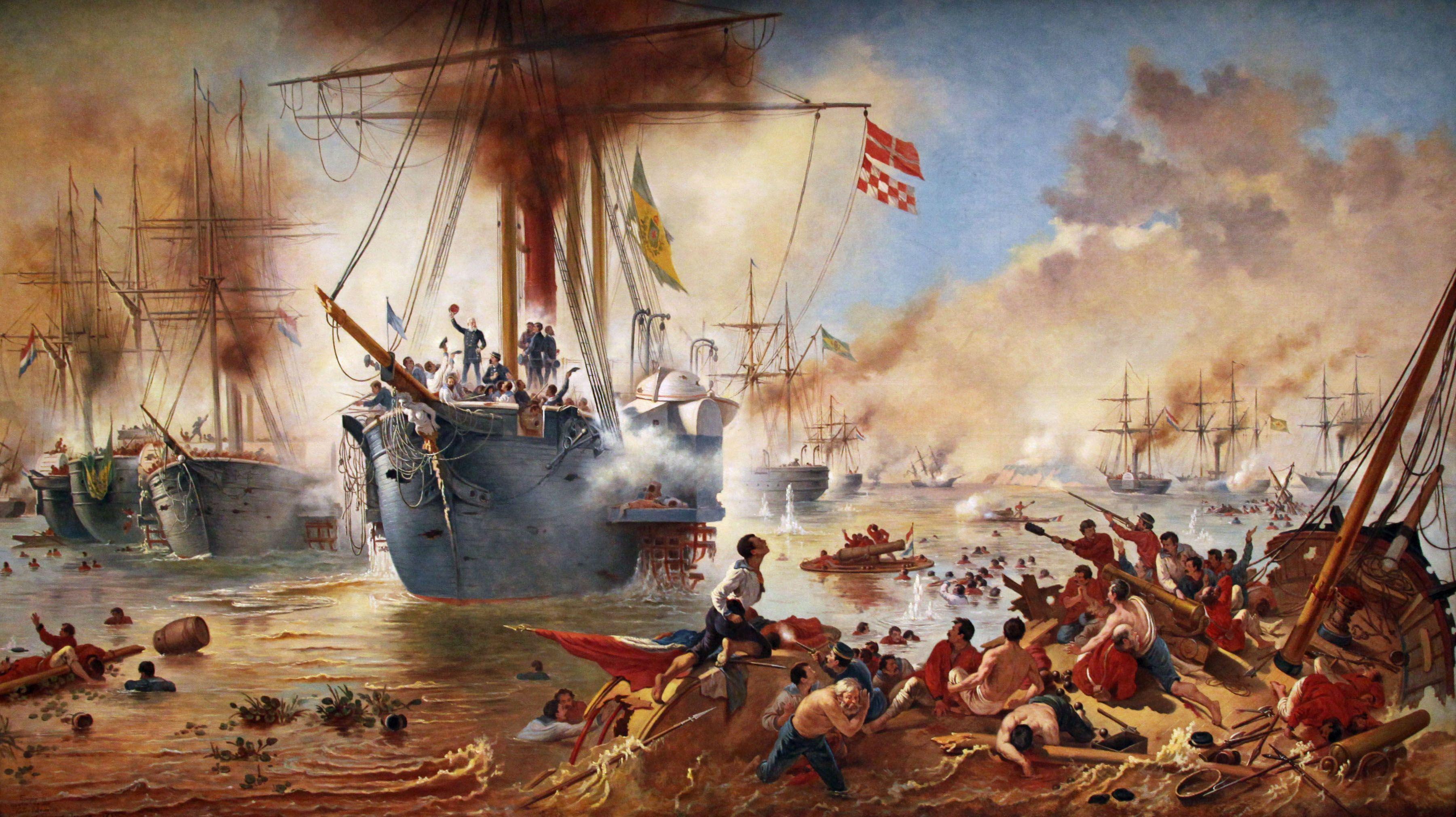 Battle Of Riachuelo Maritime Art War Art Painting
