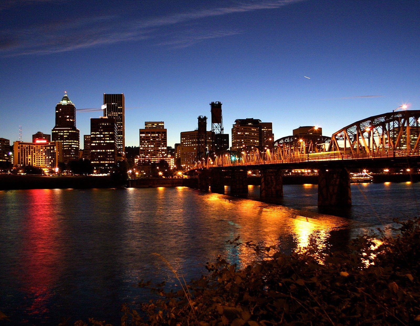 I adore the skyline of Portland at night, not to mention ...