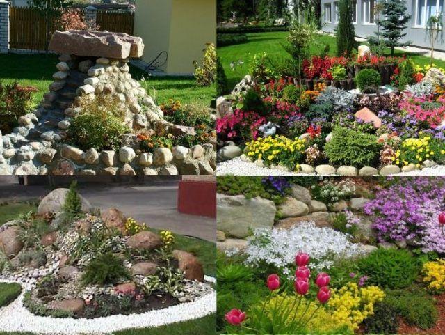 steine garten bepflanzen arten bodendecker stauden | Stein-Garten ...