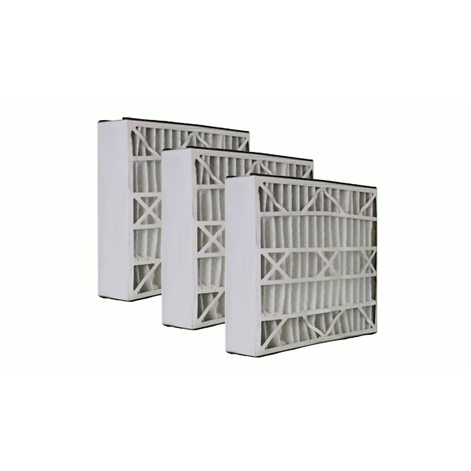 3pk Replacement 20x25x5 MERV8 HVAC Furnace Filters, Fits