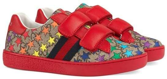 15a5d601197 Gucci Kids Children s Ace GG rainbow star sneaker
