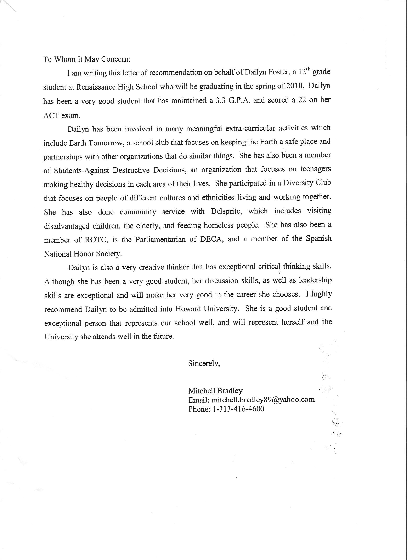 Recommendation Letter Sample For Teacher From Parent  HttpWww