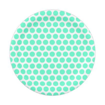 sc 1 st  Pinterest & Light Turquoise Circles Paper Plates | Party gifts