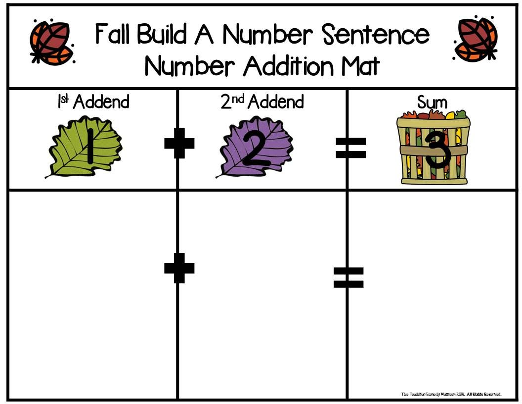 Fall Build 2 Addend 0 20 Addition Amp Subtraction Number