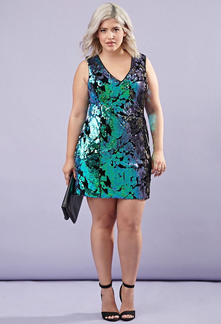 Velvet Tonal Sequin Dress - PLUS SIZES - 2000178995 - Forever 21 ...
