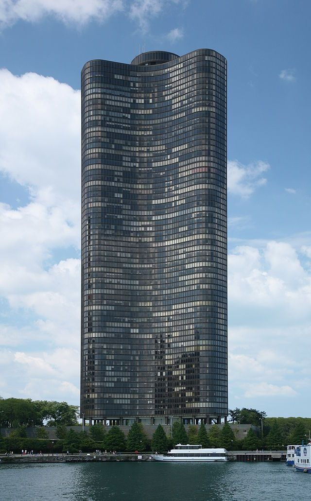 Lake Point Tower Chicago Architecture Glass Building Tower