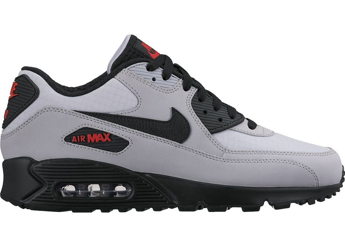 Check Out The Air Max 90 Wolf Grey Black Red Available On Stockx