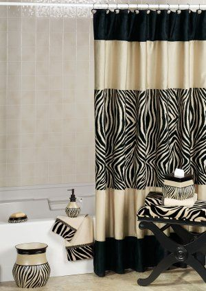 Zebra Shower Curtain And Hooks: Finding The Best Zebra Print Bathroom Sets
