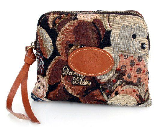 Hot sale! Quality Guaranteed! Free shipping ladies vintage lovely panda clutch hand bag handbags coins wallet purses