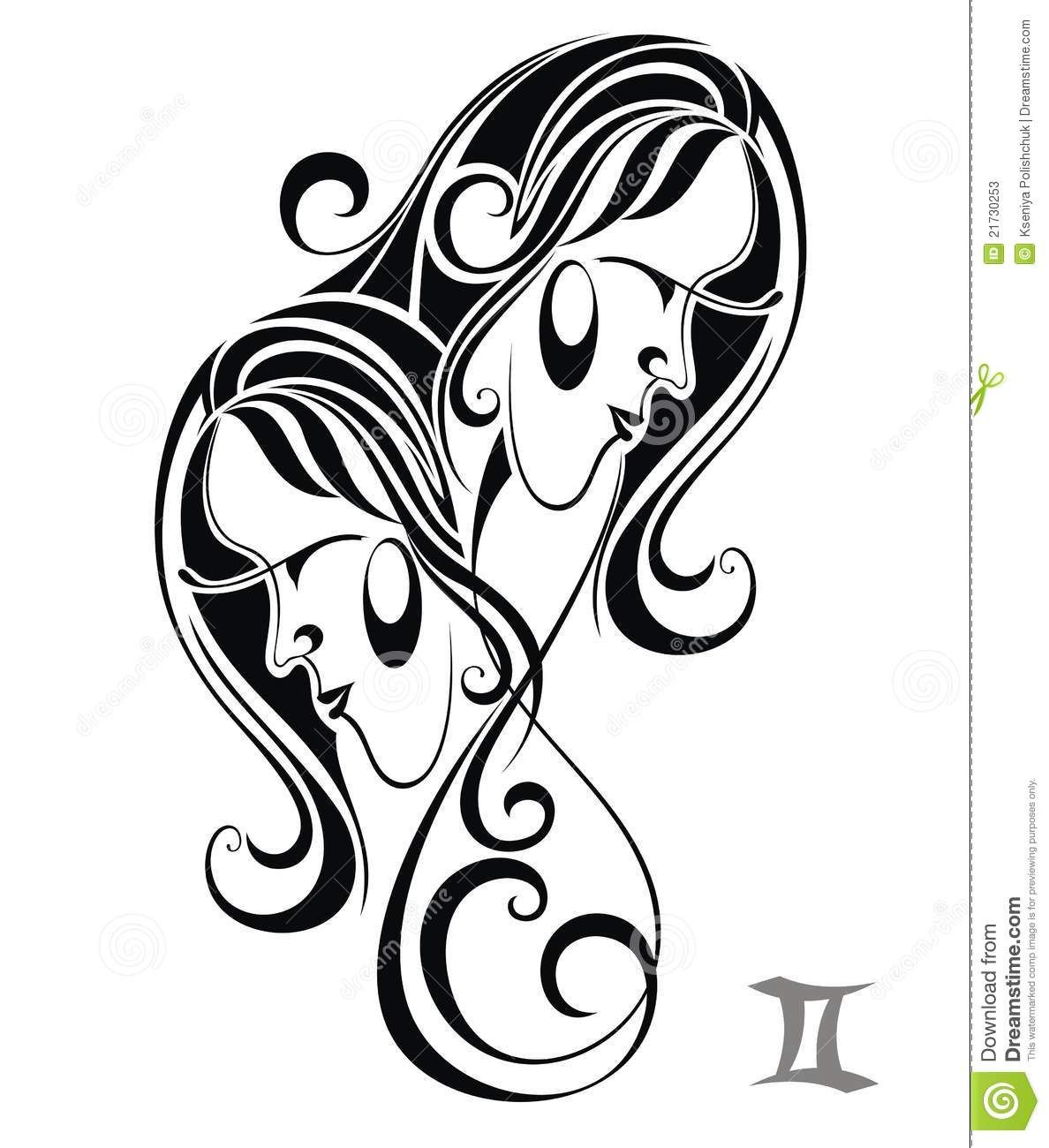 Gemini Zodiac Symbols Tattoos Zodiac Sign Gemini Astrology