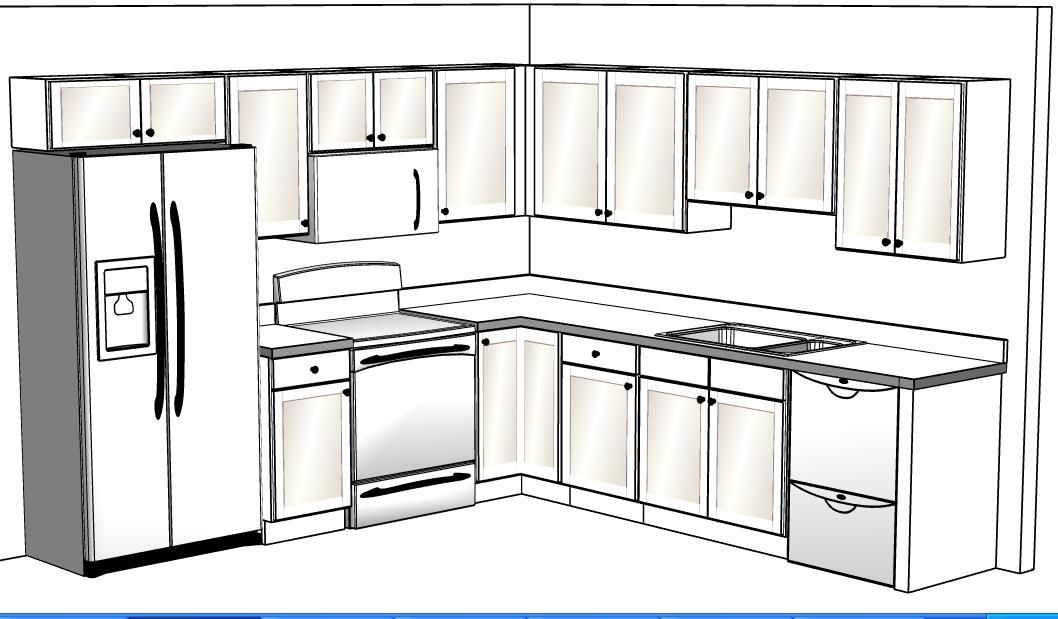 12 x 10 kitchen cabinet designs 10 x 10 open kitchen 10 for Kitchen designs 10 x 12