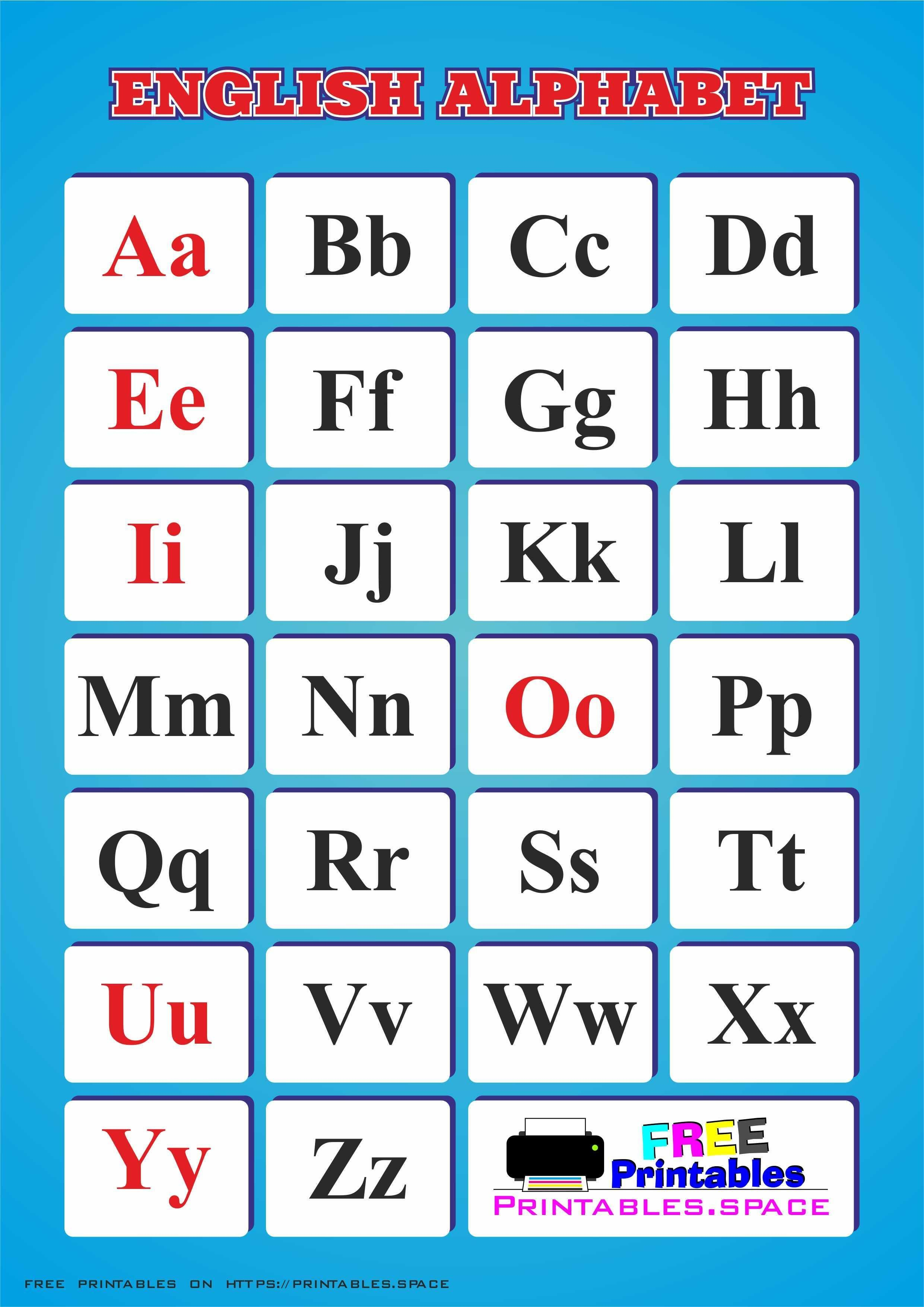 English Alphabet Printable In