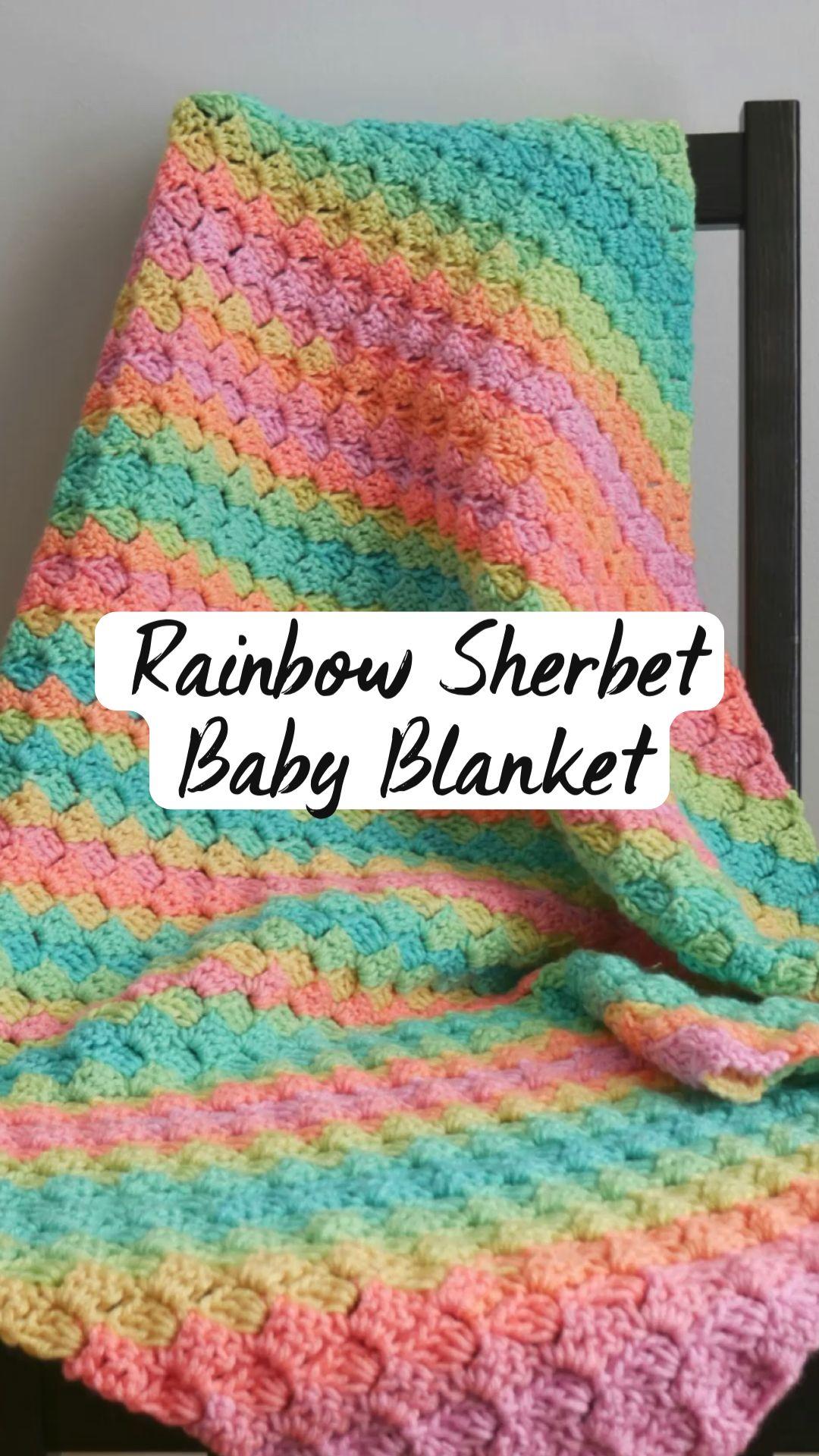 Rainbow Sherbet  Baby Blanket