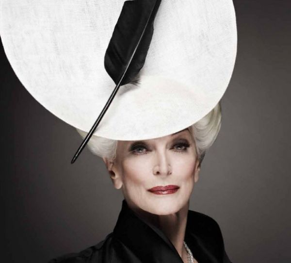 Carmen Dell'Orefice, was born in New York City, June 3, 1931 to Giuseppe Dell'Orefice, a symphony violinist and his wife Margaret, a Hungarian dancer. She appeared on the October 1947 cover of Vogue, at age 15, one of the youngest cover models ever.  She is still a very popular model, earning up to $ 100,000 a day.