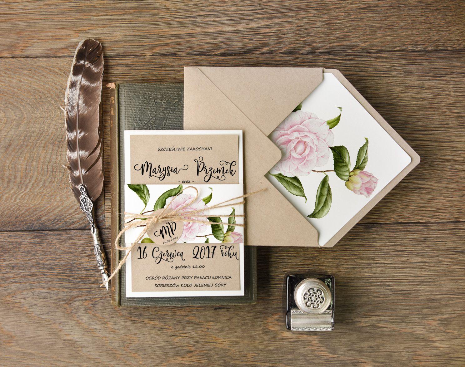 Zaproszenia ślubne Botaniczne 23botz Zaproszenia ślubne In 2019