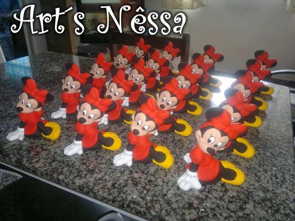 Art's Nêssa - Artesanato: Minnie sentada - 20 peças