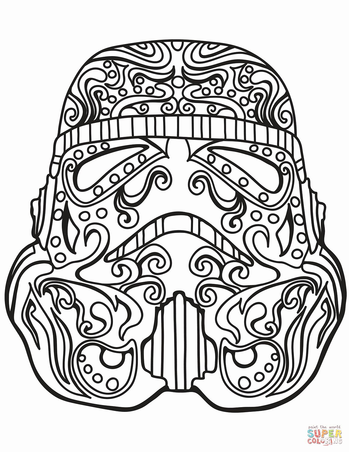 Adult Coloring Pages Star Wars in 2020 Skull coloring