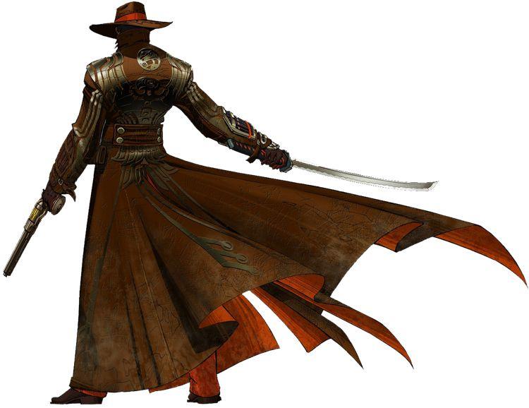 Steampunk swordsman