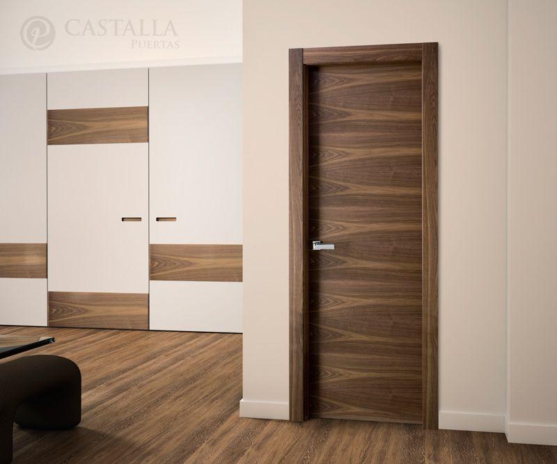 Puertas castalla modelo l62 nogal de la serie lisa for Puertas castalla