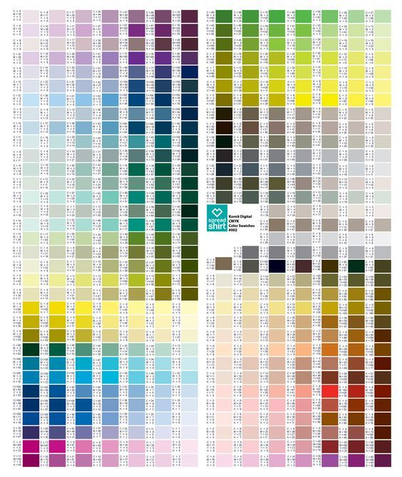 Cmyk Color Chart  Colors    Cmyk Color Chart