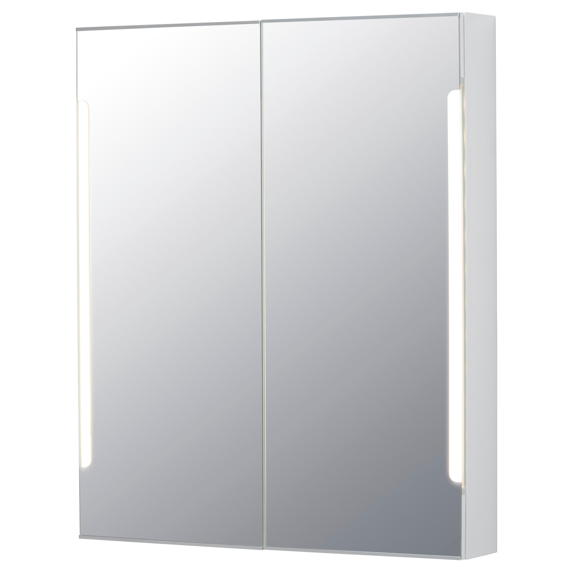 Storjorm spiegelschrank m. 2 türen int. bel.   60x14x96 cm   ikea ...