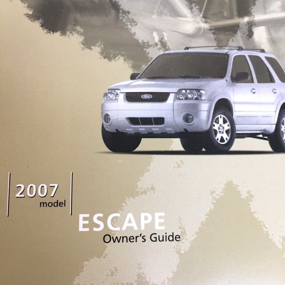Ford Escape Owners Guide 2007 User Manual With Maintenance Guide And Case Ebay Finds Ford Escape Ebay Motors