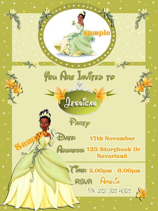 Princess and the frog princess tiana birthday invitation 450 princess and the frog princess tiana birthday invitation 450 via etsy filmwisefo