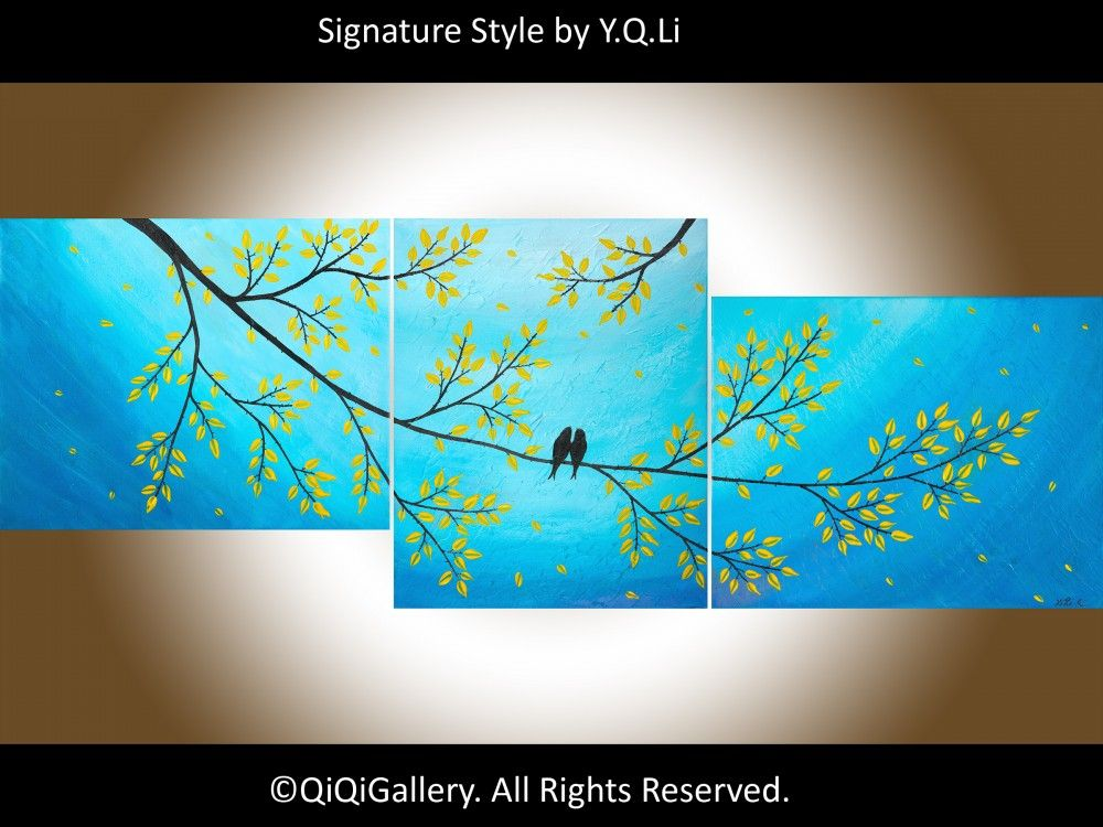 Moonlight Sonata by QIQIGallery 56 x 20 Original Modern Abstract